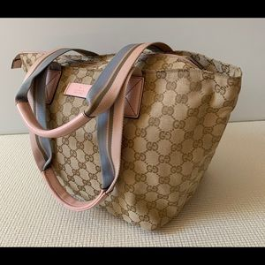 Gucci Tote Bag  Light Brown Canvas